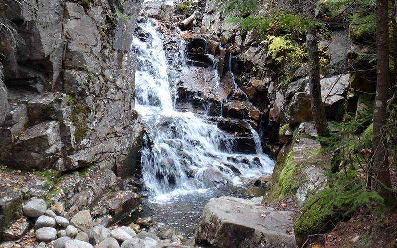 Waterfall on the Cascade Brook.