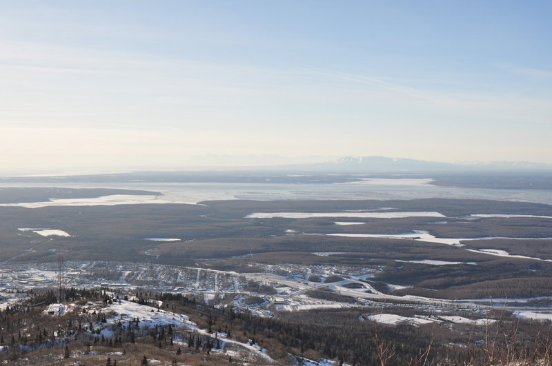 Eagle River and the Knik Arm below Mt. Baldy.