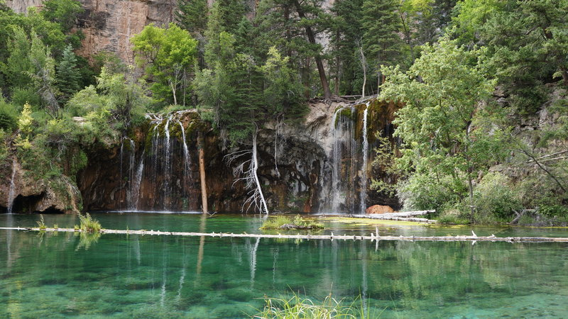 Beautiful, untouched waters of Hanging Lake.