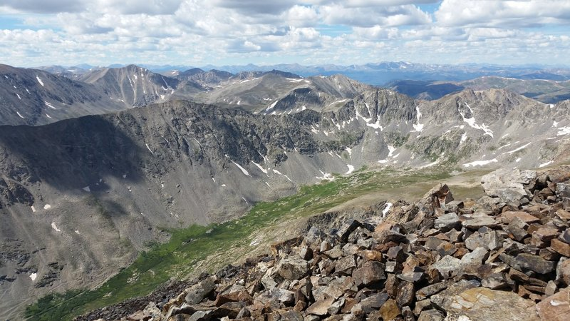 Top of the world from the Quandary Peak Trail.
