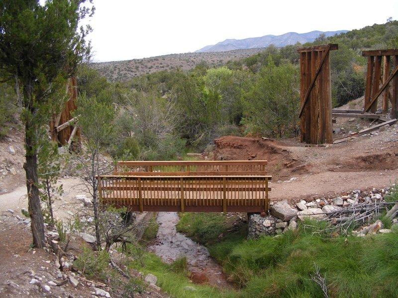 This trestle lives below the Bridal Veil Falls Trailhead.