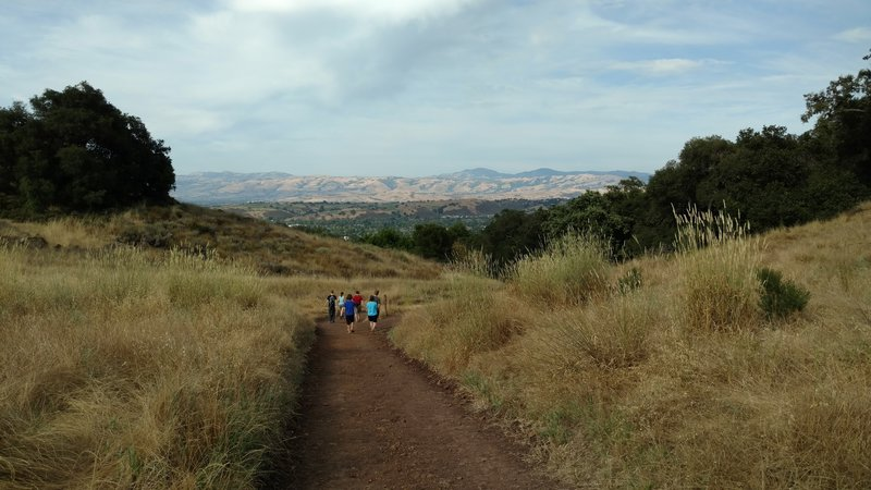 The trails at Almaden Quicksilver County Park offer awesome views of San Francisco's South Bay Area.
