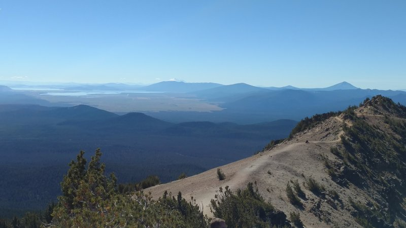 The summit of Mount Scott offers visitors great views of distant Klamath Lakes and Mount Shasta.