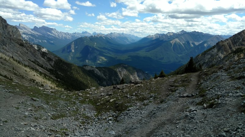 The view atop Cory Pass is a welcome reward for the ruthless climb on the way up.