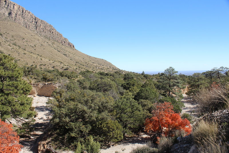 Returning to the trailhead along the Devil's Hall Trail, Guadalupe Mountains National Park