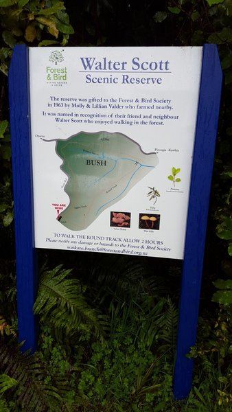 An information sign greets visitors at the start of the track.