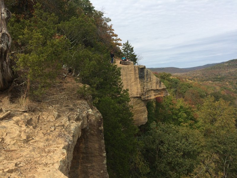 The views are spectacular from the Yellow Rock Trail in Devil's Den State Park, Arkansas.
