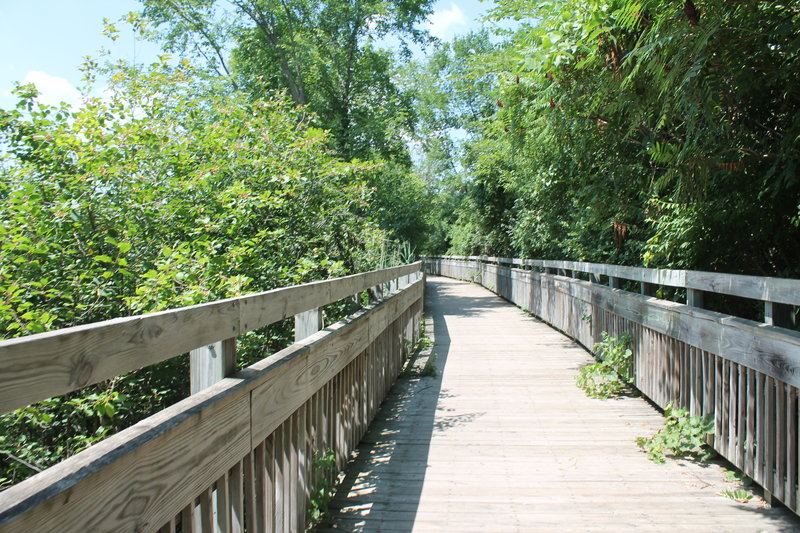 Lovely wooden boardwalks treat visitors to the Laura Trail.