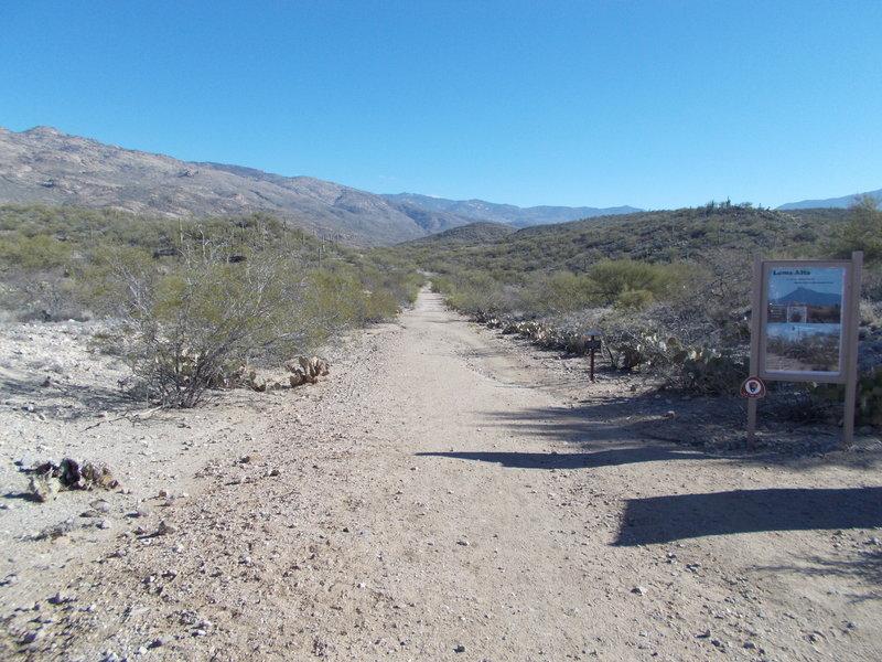 Camino Loma Alta Trailhead.