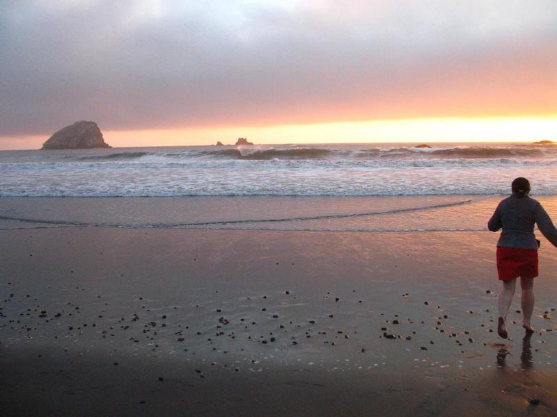 Clouds making for a nice sunset near the mouth of the Klamath River.