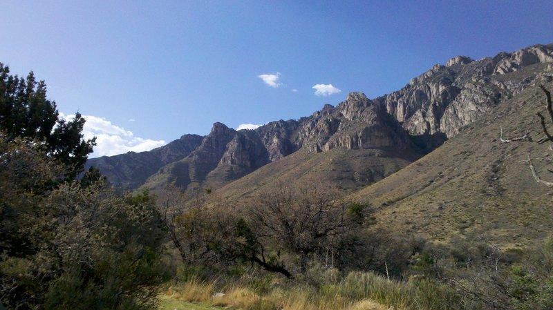 Mountain vista on the Smith Spring Trail.