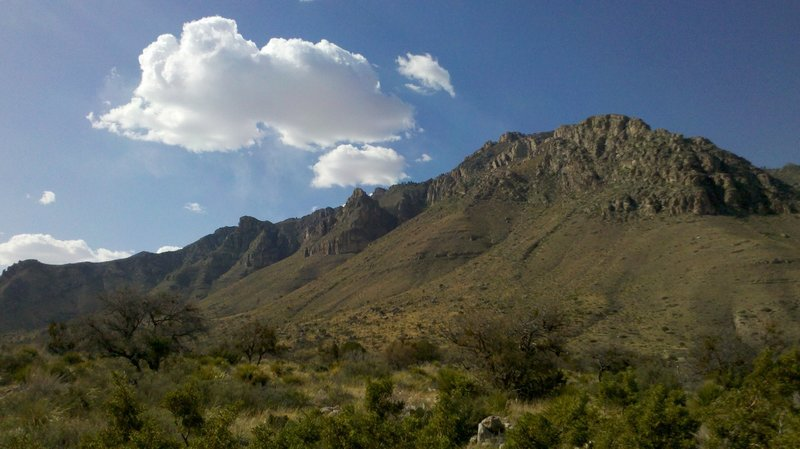 Guadalupe Peak as seen from the campground area.