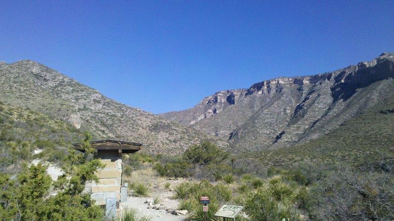 McKittrick Canyon Trailhead.