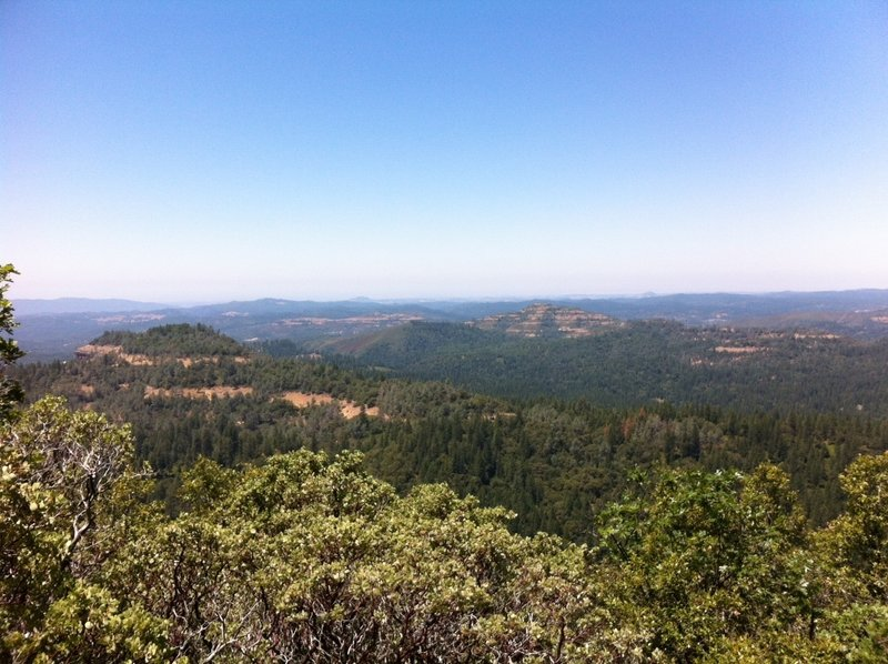 A taste of the view along the Arnold Rim Trail. On a clear day, you can see a radio tower over 20 miles away.