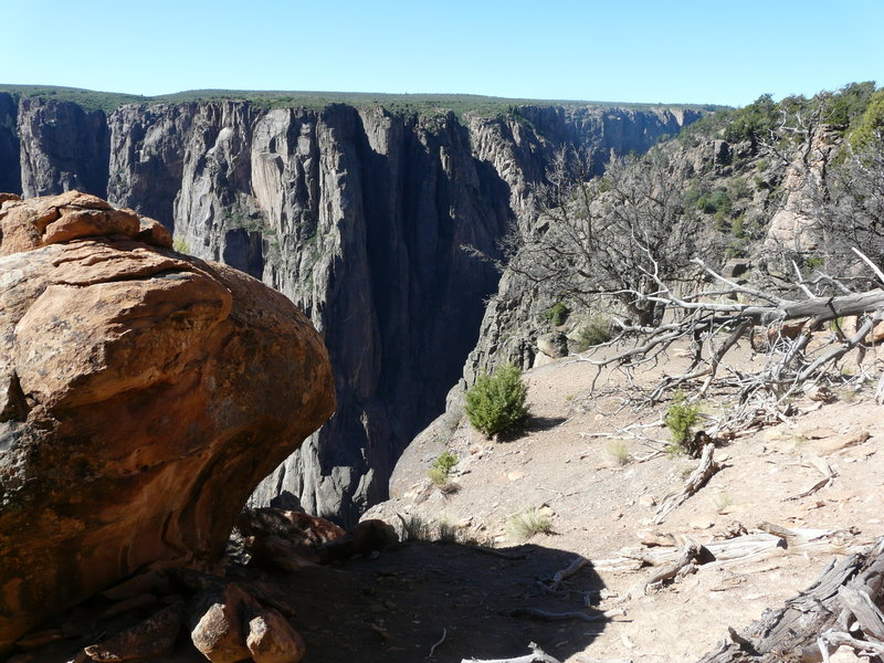 Black Canyon of the Gunnison from the North Vista Trail.