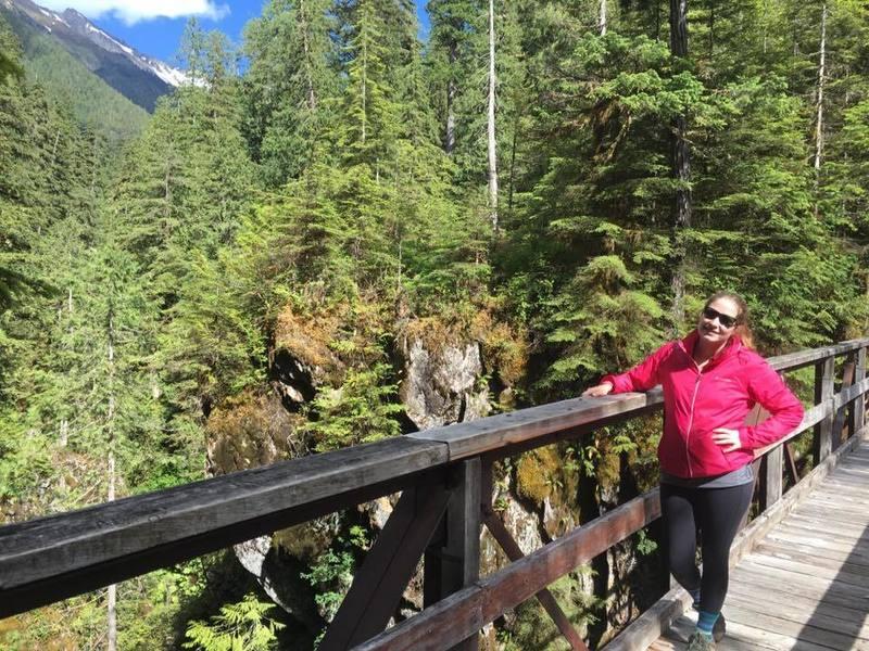 High Hoh Bridge in Olympic National Park, Washington.