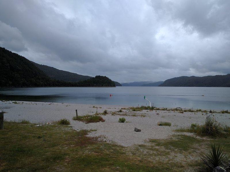 Lake Okataina hosts a nice beach right near the boat ramp and car park.