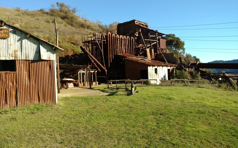 Ruins of the Mine Hill Rotary Furnace - used to extract mercury from cinnabar in the early 20th century.