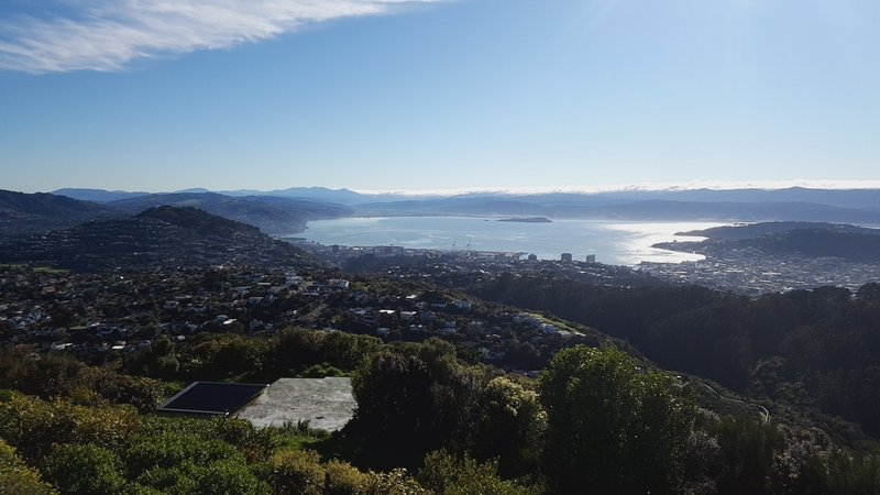 Looking down from the Wrights Hill Lookout.