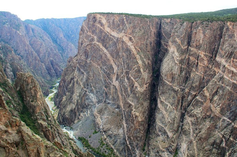 Impressive views from the Painted Wall overlook.