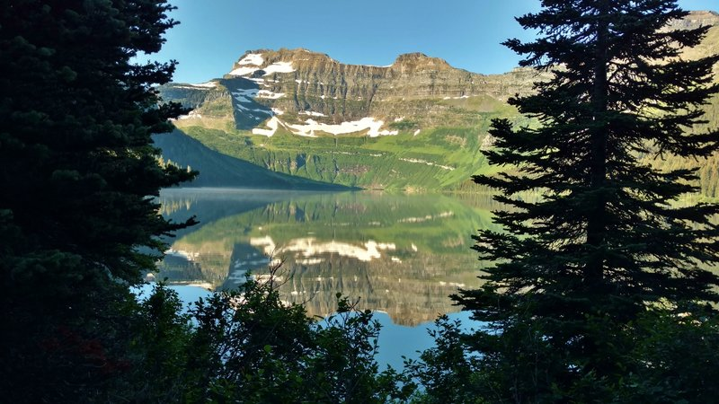 Mount Custer offers a spectacular backdrop to any journey along Cameron Lake.