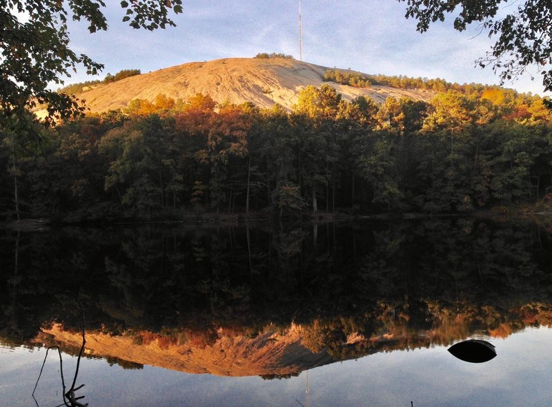 The View Of Stone Mountain From Across Venable Lake Doesn T Get Much