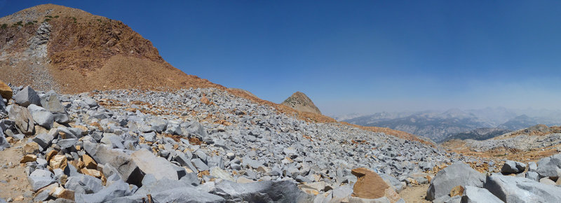 At the top of Red Peak Pass. Red Peak is just to the right.
