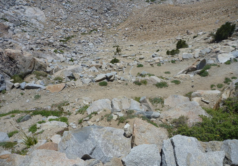 A lot of swichback on the south side of Red Peak Pass.