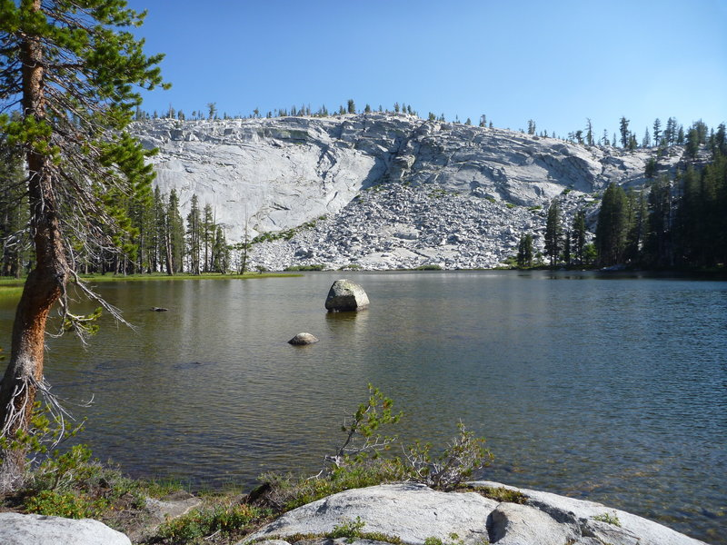 Lower Merced Pass Lake - A little off the trail and a GREAT place to camp.