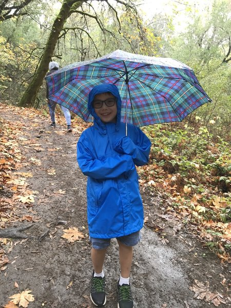 Even on a rainy day, a hike will put a smile on your face.