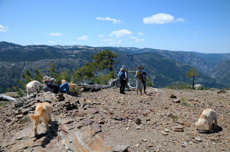 Hikers at Mariah Point enjoy the view of the Royal Gorge of the American River.