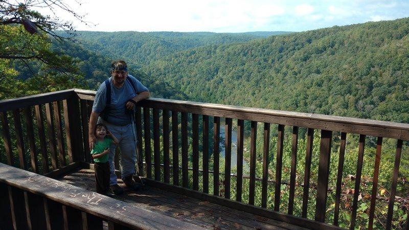 Bear Creek overlook in the Big South Fork NRRA