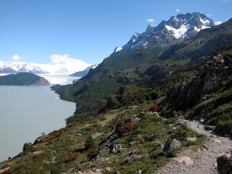 Lago Grey and Grey Glacier in Torres del Paine National Park.