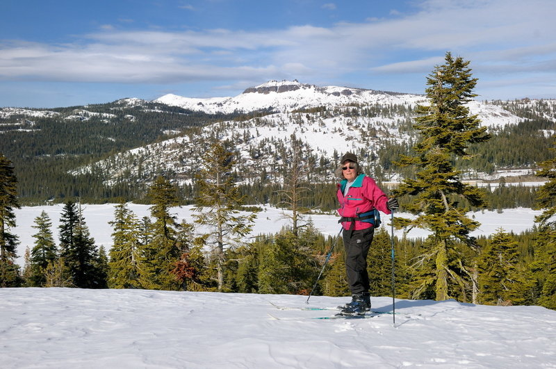 When the snow makes it tough to hike during the winter, the Forest Service Ridge Trail serves as a nice cross-country ski.