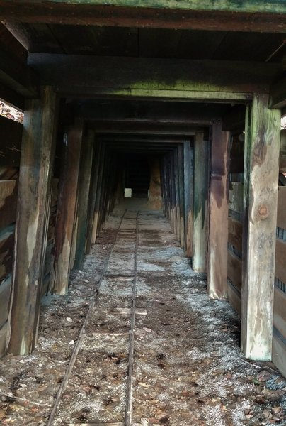 The entrance to the Old San Cristobal Mine Tunnel is eerie, yet exciting.