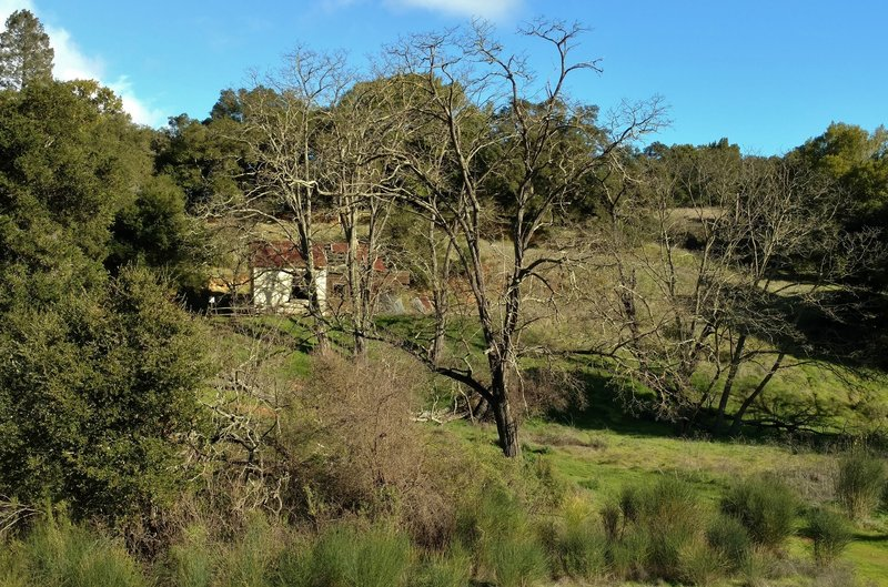 The Castillero Trail offers an interesting perspective into the ruins of the old mine office.