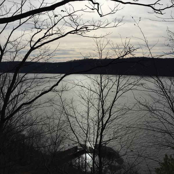Winter offers scenic views of the Susquehanna River while descending the Turkey Hill Trail.