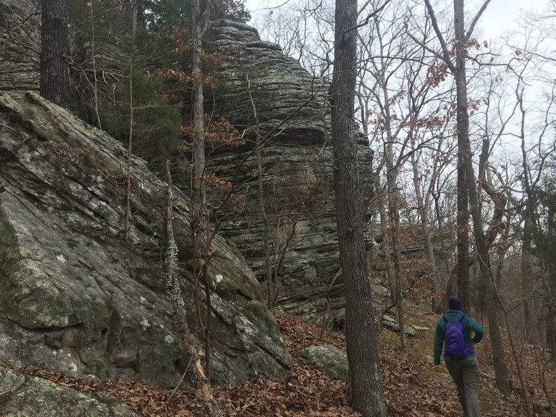 Spectacular rock formations make this an impressive hike.