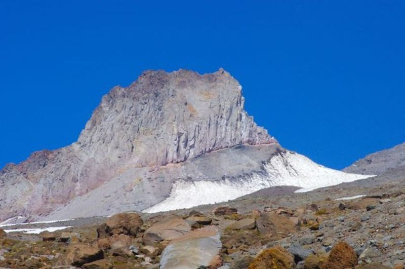 Illumination Rock on Mt. Hood is quite prominent from the Mountaineer Loop Trail. Photo by John Sparks.