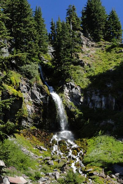 Lost Creek Falls is just a short detour off the trail. Photo by Guy Meacham.