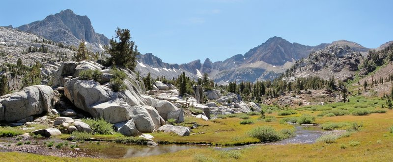 One of the many alpine meadows along McGee Pass Trail.