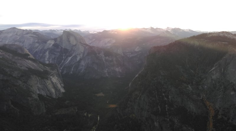 Sunrise from Eagle Peak. Great view of both North and Half Dome.