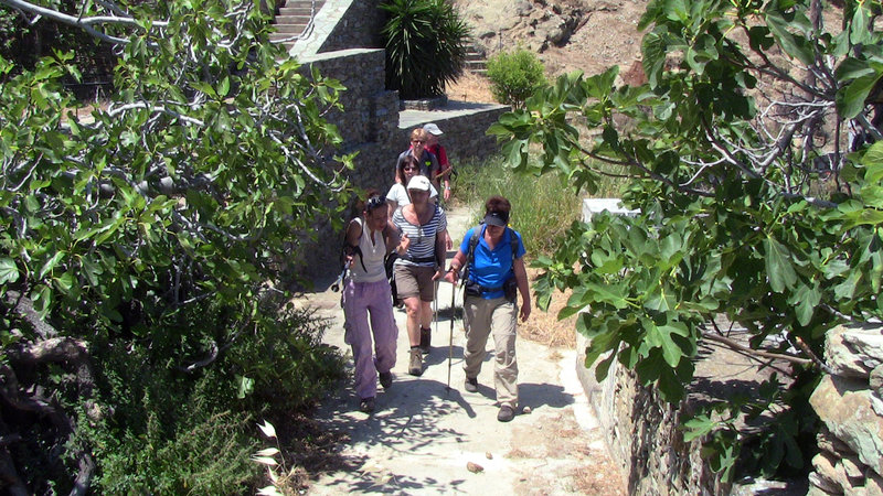 Hiking tours and trekking are a great way to experience the beauty and history on Andros Island.