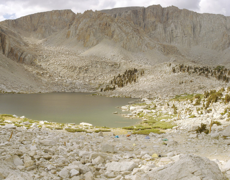 There's great camping at Cottonwood Lake Number Five beneath Mount Langley.