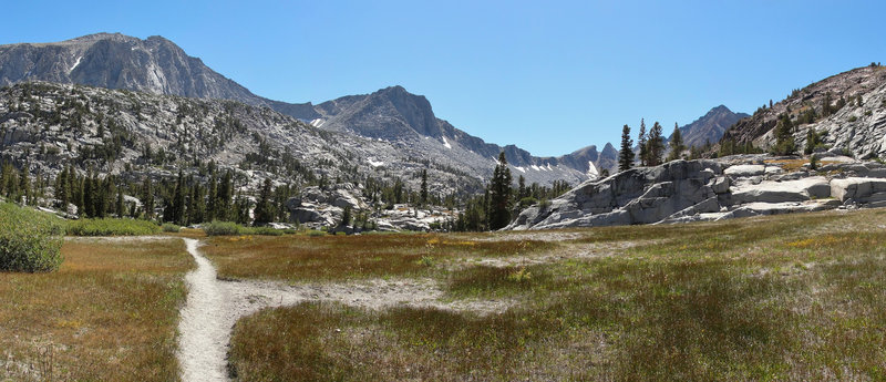 The McGee Pass Trail offers gorgeous views of Mount Crocker and Red and White Mountain.