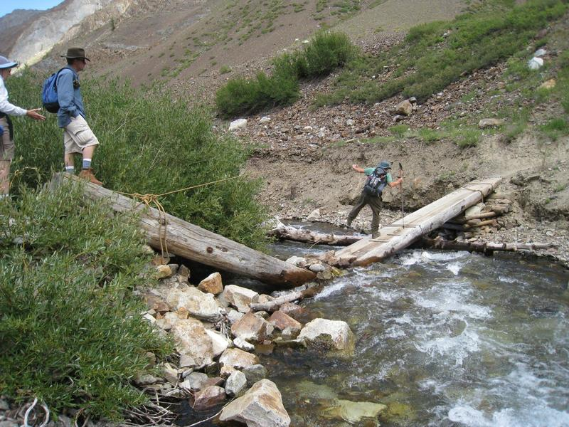 The crossing gets a little loose on McGee Creek.