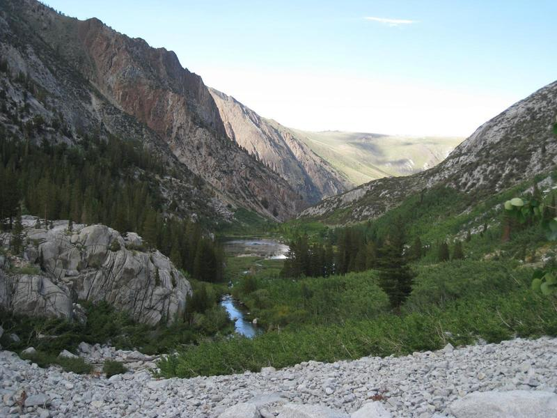 The McGee Pass Trail offers a gorgeous look down the valley.
