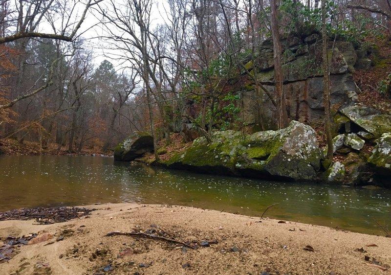 Sandbar on New Hope Creek.