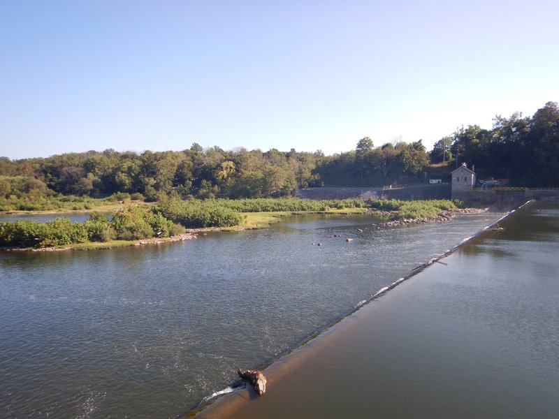 Dam Number 4 along the Potomac River is quite beautiful in the afternoon sun.