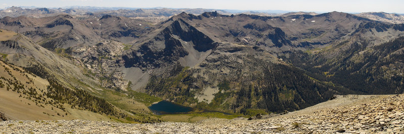 Leavitt Peak offers a spectacular view of Kennedy Lake, Kennedy Peak, and Soda Canyon.
